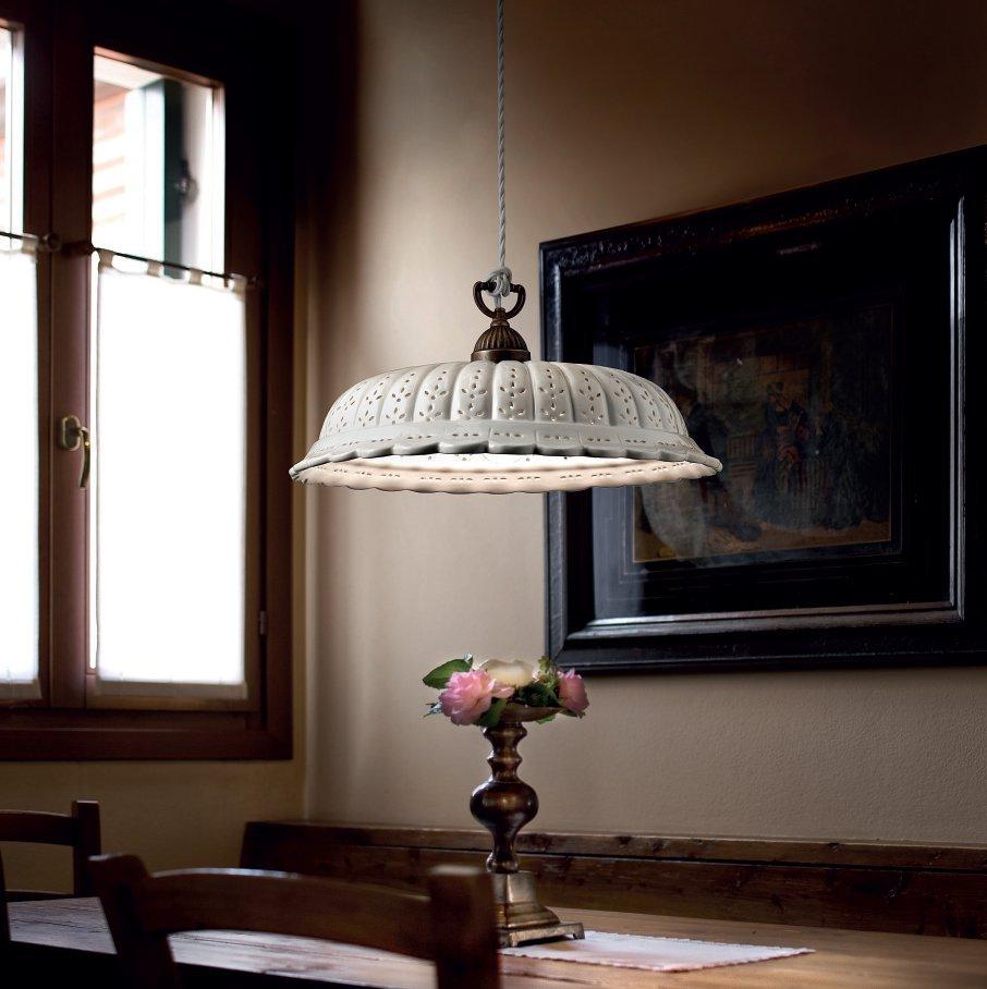 italienische pendellampe im landhausstil in keramik und messing von il fanale g nstig kaufen bei. Black Bedroom Furniture Sets. Home Design Ideas
