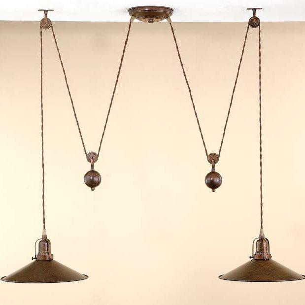 doppelte nautische zugpendelleuchte in messing oder nickel. Black Bedroom Furniture Sets. Home Design Ideas