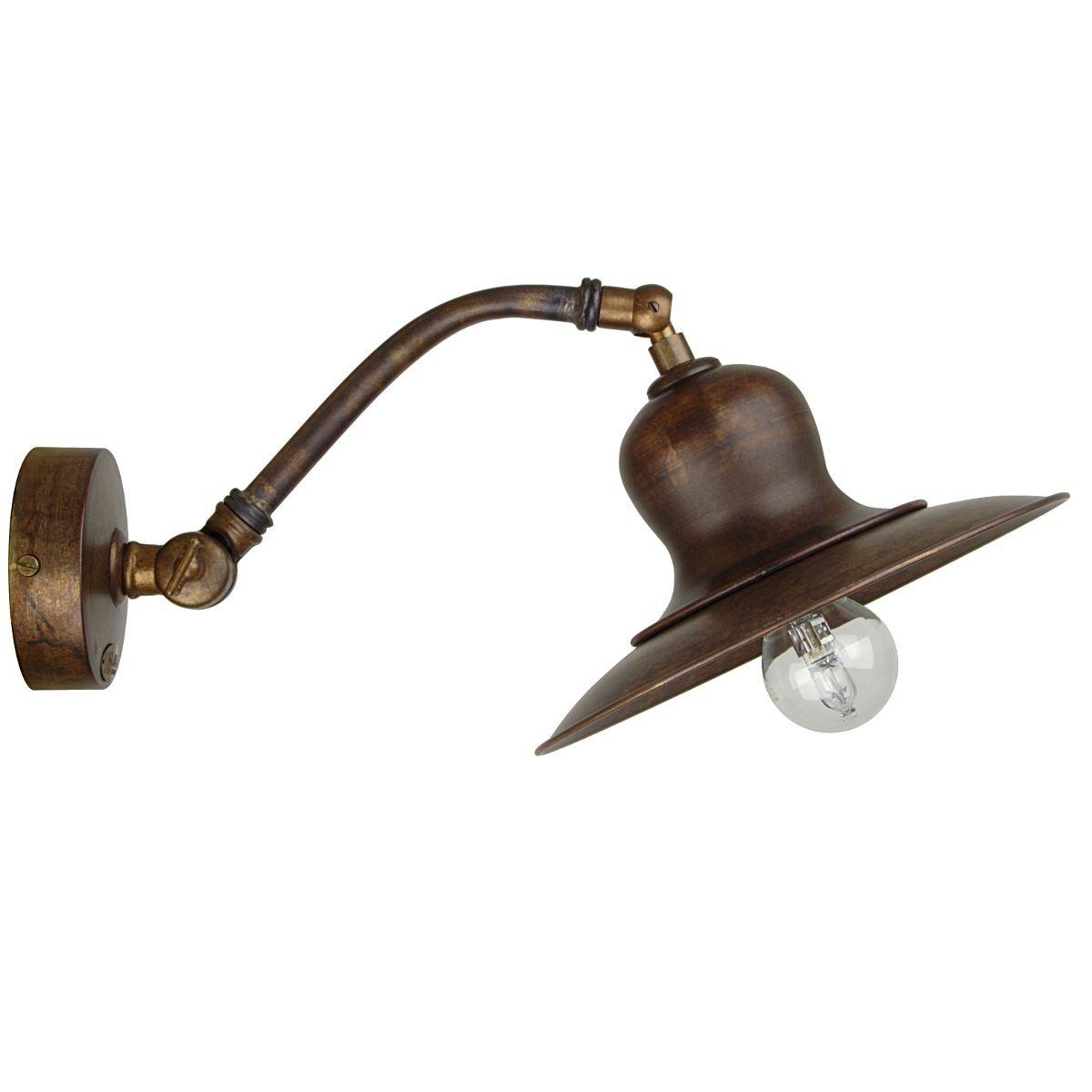 antike wandlampe messing vom italienischen hersteller. Black Bedroom Furniture Sets. Home Design Ideas