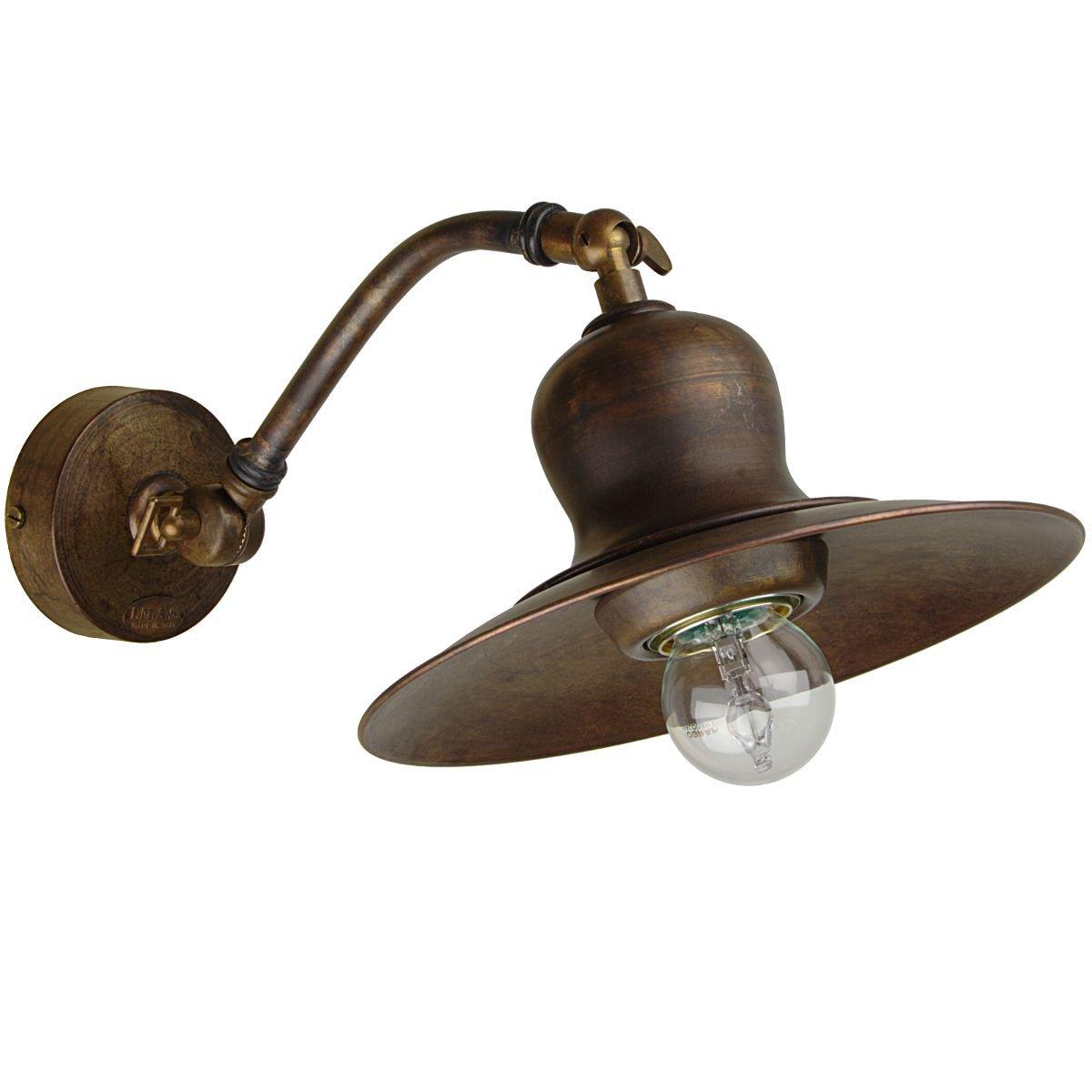 Antike Lampen Kaufen: Antike Wandlampe Messing Vom Italienischen Hersteller