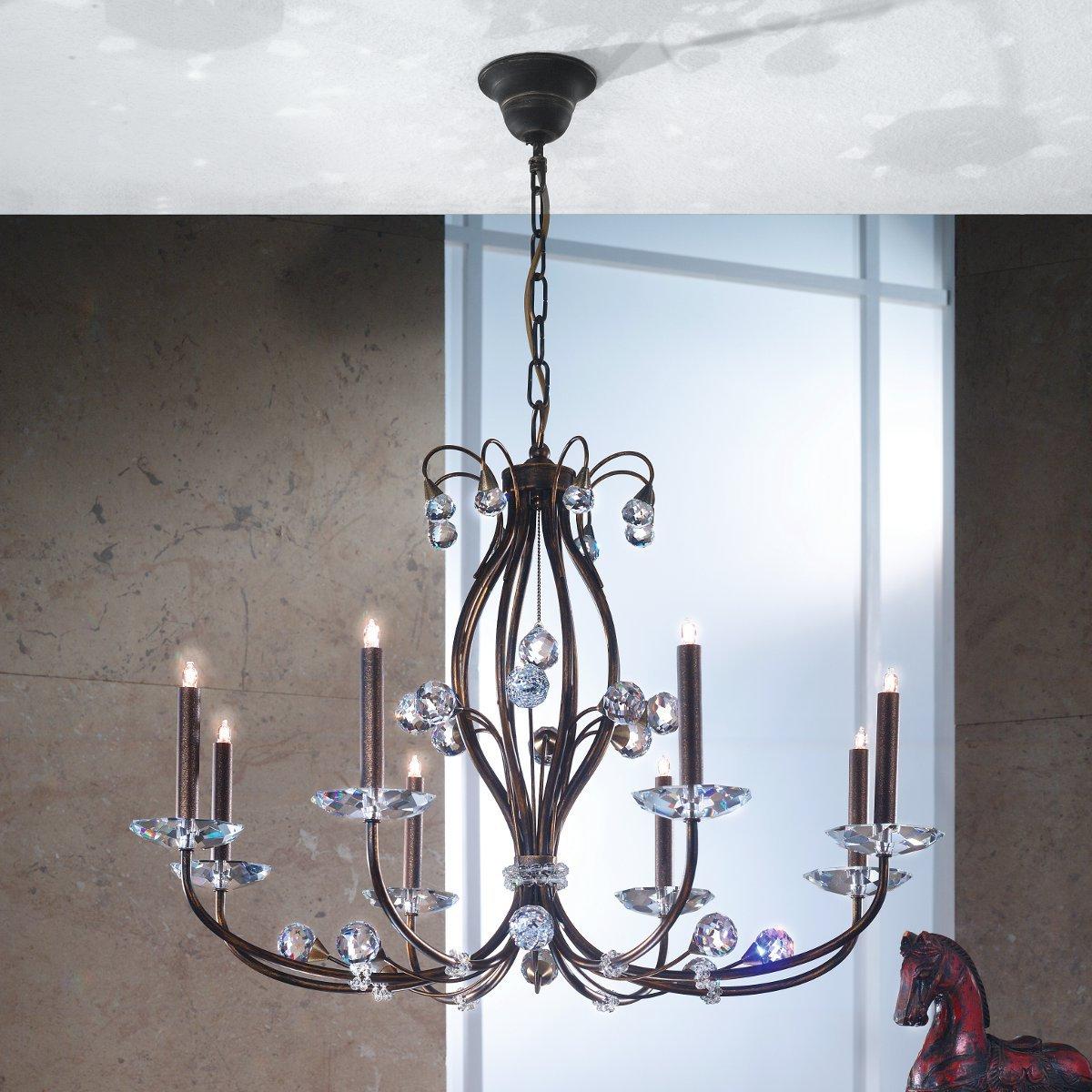 eleganter kristall kronleuchter in messing g nstig kaufen bei lampen suntinger shop. Black Bedroom Furniture Sets. Home Design Ideas