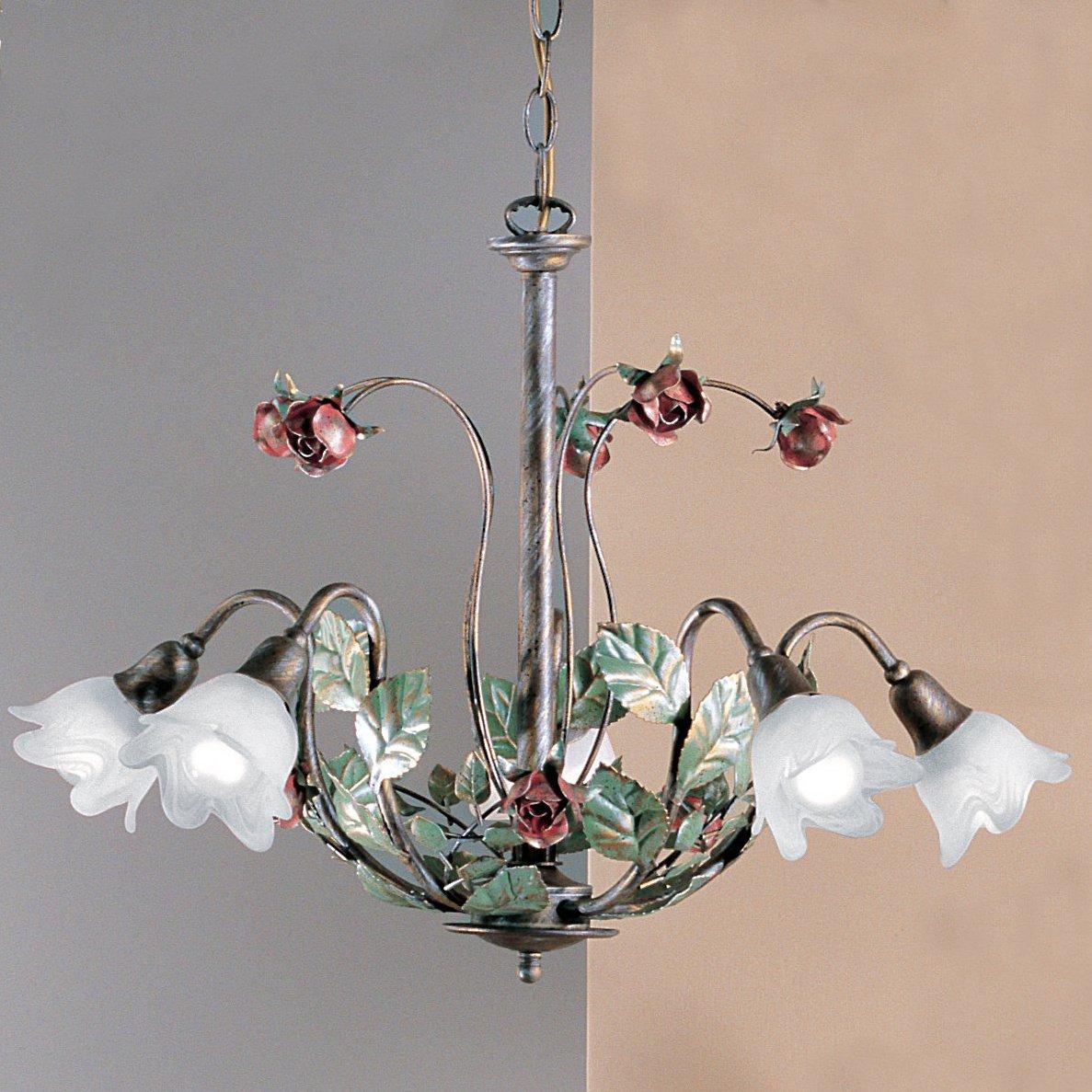 floraler florentiner kronleuchter zur tischbeleuchtung im landhausstil g nstig kaufen bei lampen. Black Bedroom Furniture Sets. Home Design Ideas