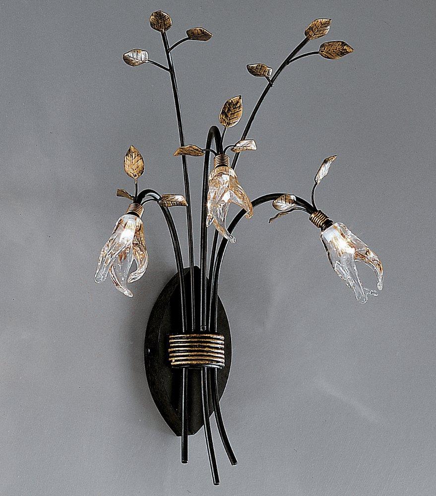 florentiner wandleuchte im landhausstil mit bl tengl sern von hans k gl wohnlicht. Black Bedroom Furniture Sets. Home Design Ideas