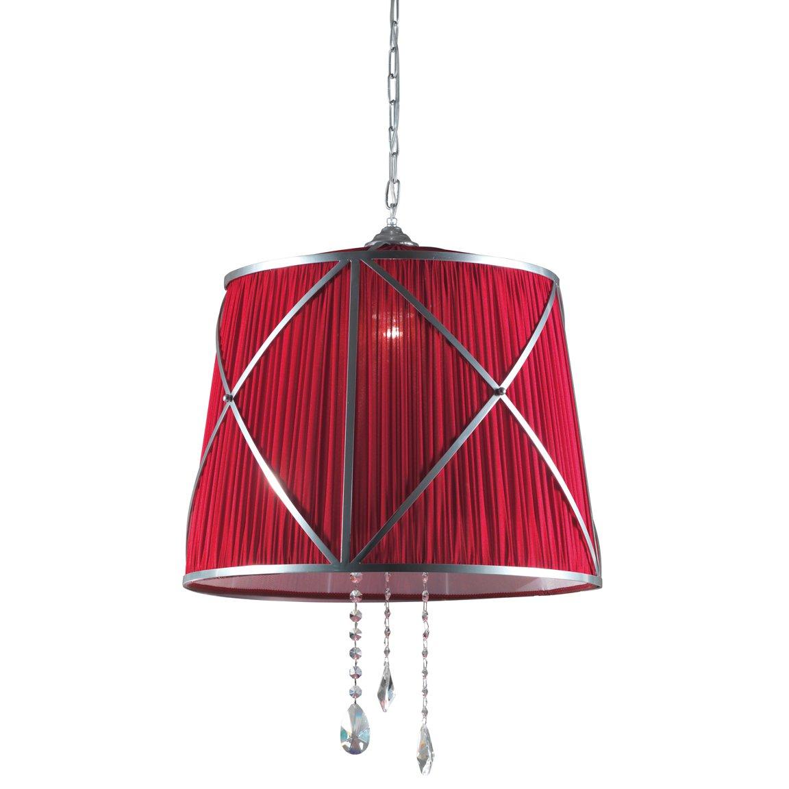 gro e pendelleuchte mit stoffschirm und swarovski kristallen. Black Bedroom Furniture Sets. Home Design Ideas