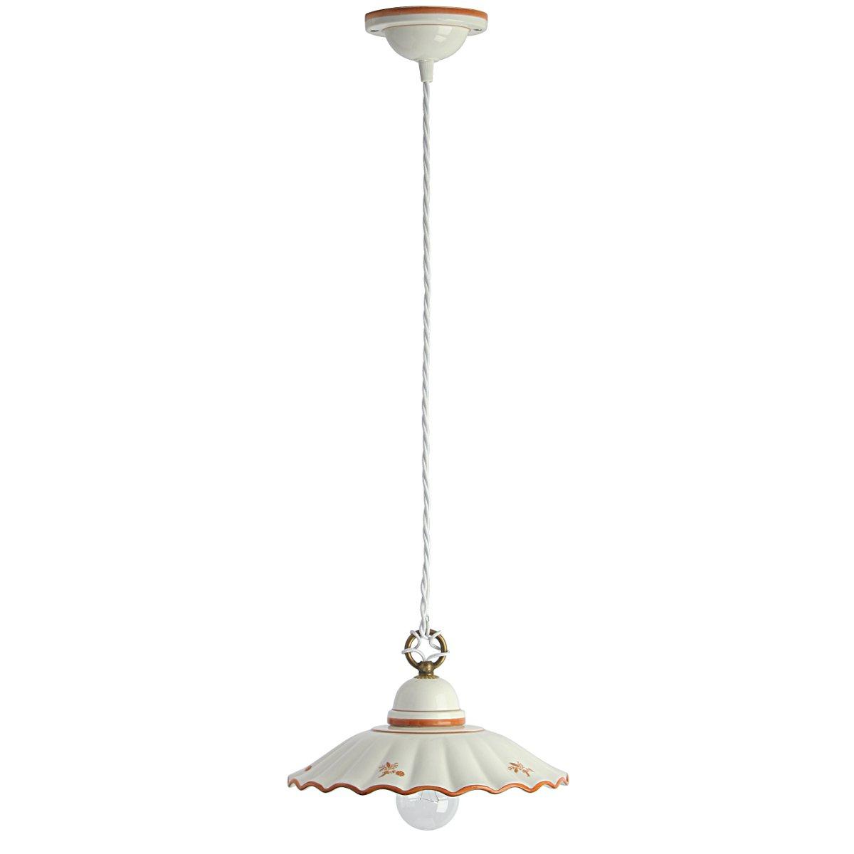 italienische pendelleuchte mit keramikschirm g nstig kaufen bei lampen suntinger shop. Black Bedroom Furniture Sets. Home Design Ideas