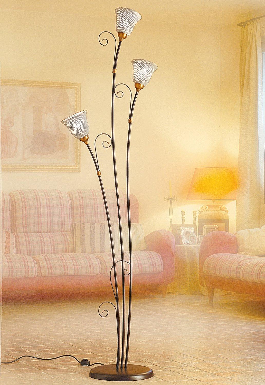 mediterrane italienische stehleuchte mit bl tenf rmigen. Black Bedroom Furniture Sets. Home Design Ideas
