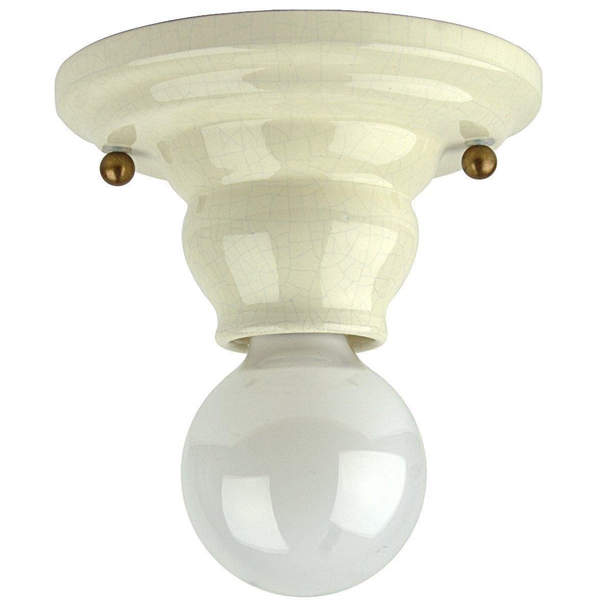 Lampen Landhausstil Keramik Leuchte Im Kaufen Gebraucht: Kleine Keramik-Deckenlampe Im Landhausstil Von Signa