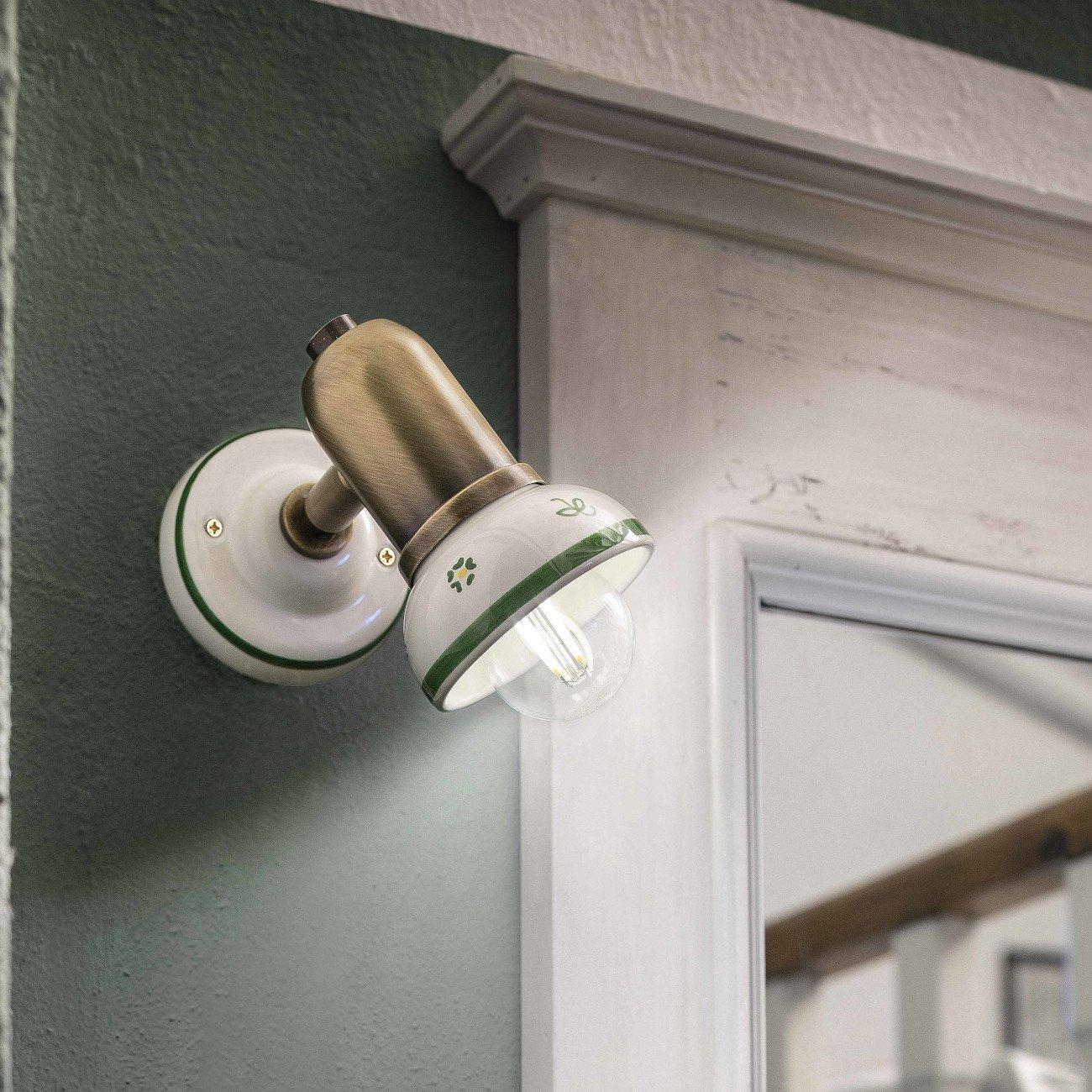 Lampen Landhausstil Keramik Leuchte Im Kaufen Gebraucht: Moderner Wandspot In Keramik Und Messing Oder Chrom Von