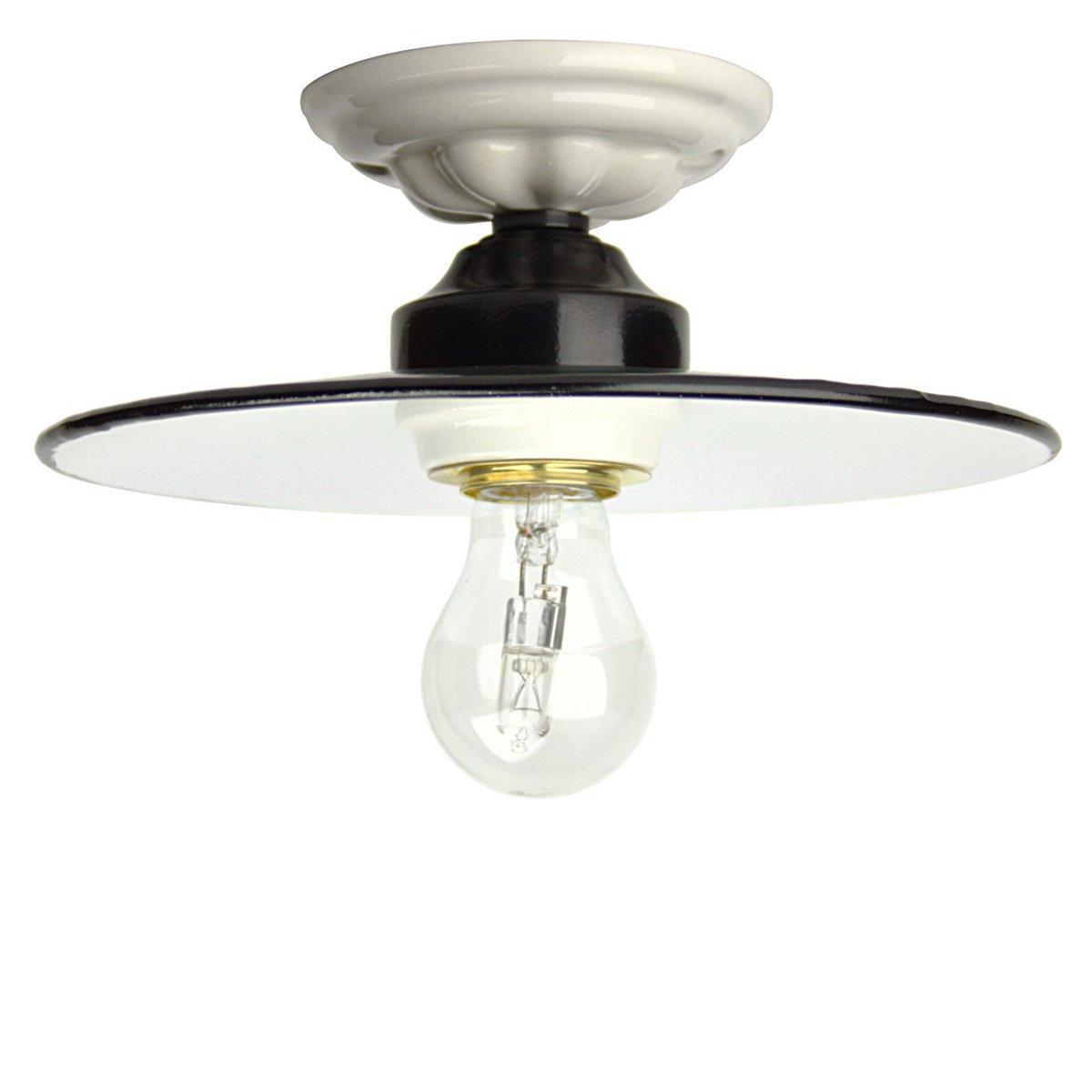 klassische deckenlampe im antiken stil mit schwarzem eisen schirm mit gro em schirm von. Black Bedroom Furniture Sets. Home Design Ideas