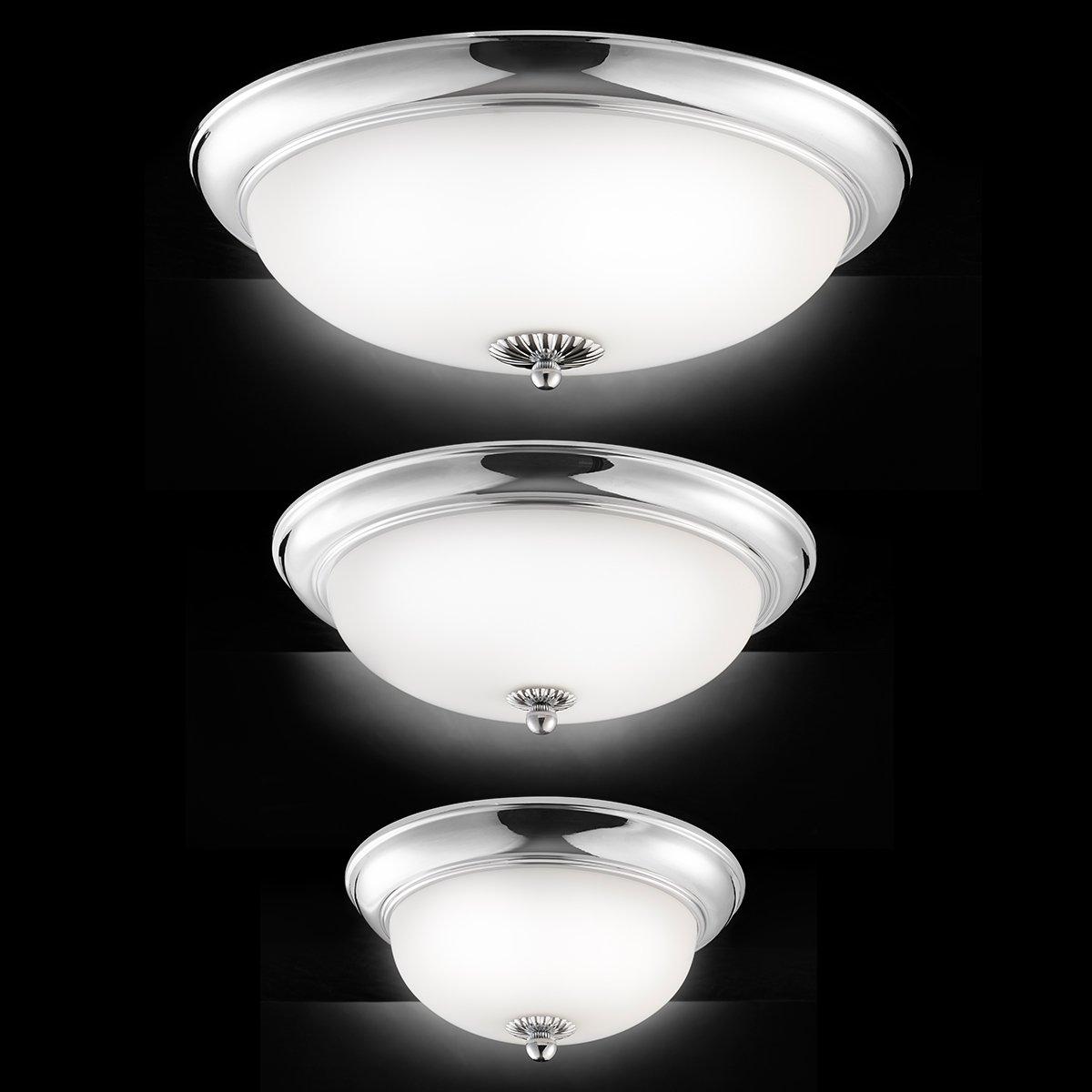 klassische deckenleuchte mit opalglas zur wohnraumbeleuchtung. Black Bedroom Furniture Sets. Home Design Ideas
