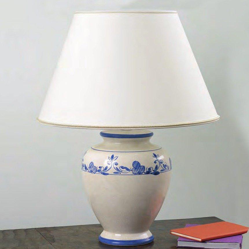Italienische keramik vasenleuchte im landhausstil mit for Italienische tischleuchten