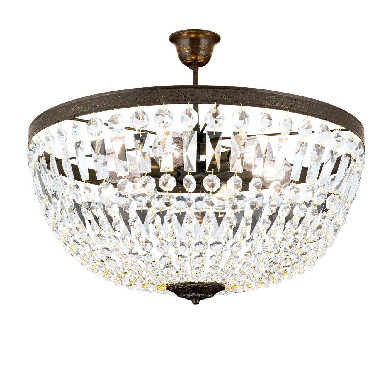 gro e deckenleuchte mit kristall behang im stil eines antiken l sters. Black Bedroom Furniture Sets. Home Design Ideas