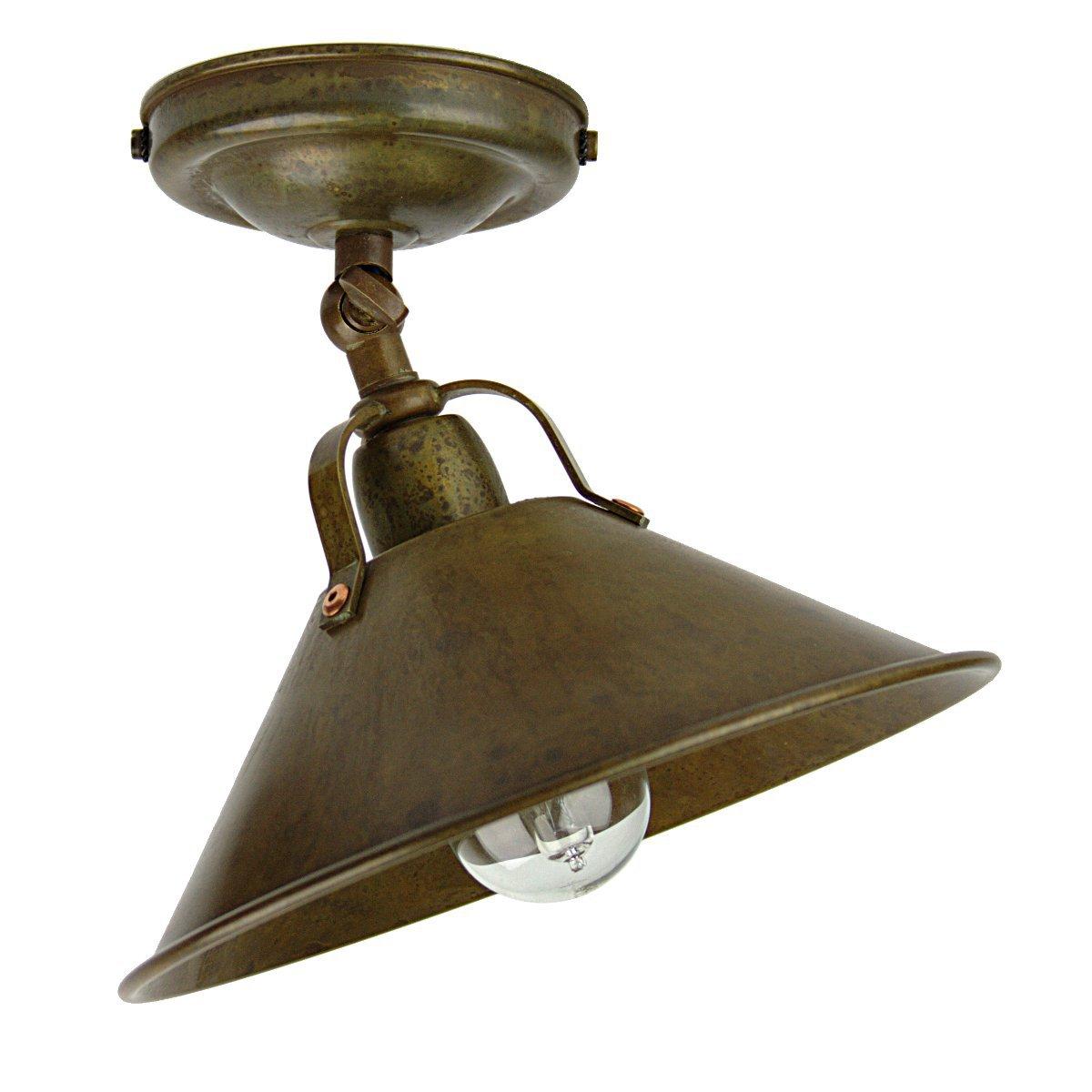Landhausstil deckenlampe la cascina mit einstellbarem reflektor von il fanale - Deckenlampe rustikal ...