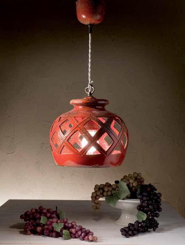 l ndlich mediterrane keramik lampe aus italien. Black Bedroom Furniture Sets. Home Design Ideas