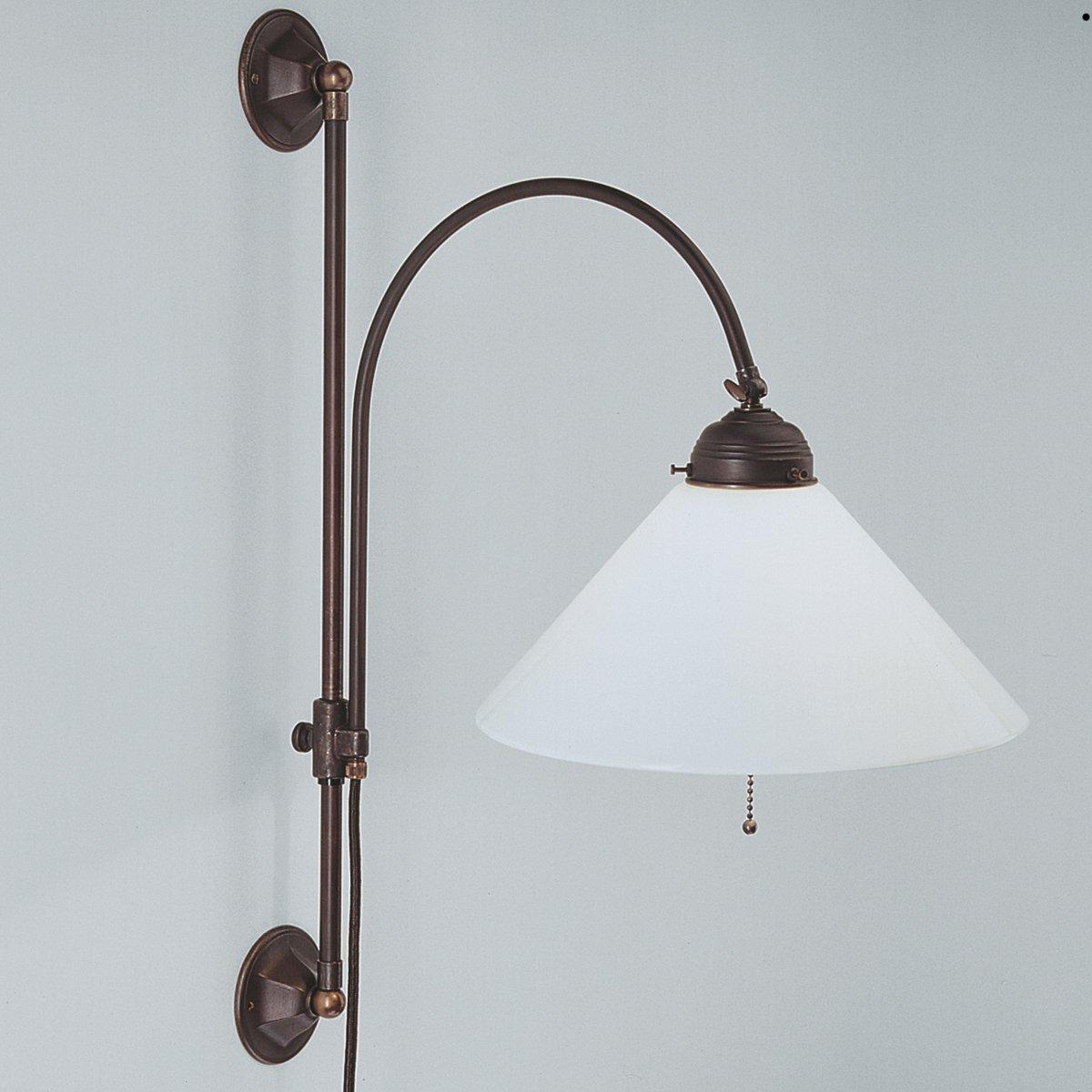 h henverstellbare jugendstil wandleuchte mit kabel lampen suntinger shop. Black Bedroom Furniture Sets. Home Design Ideas