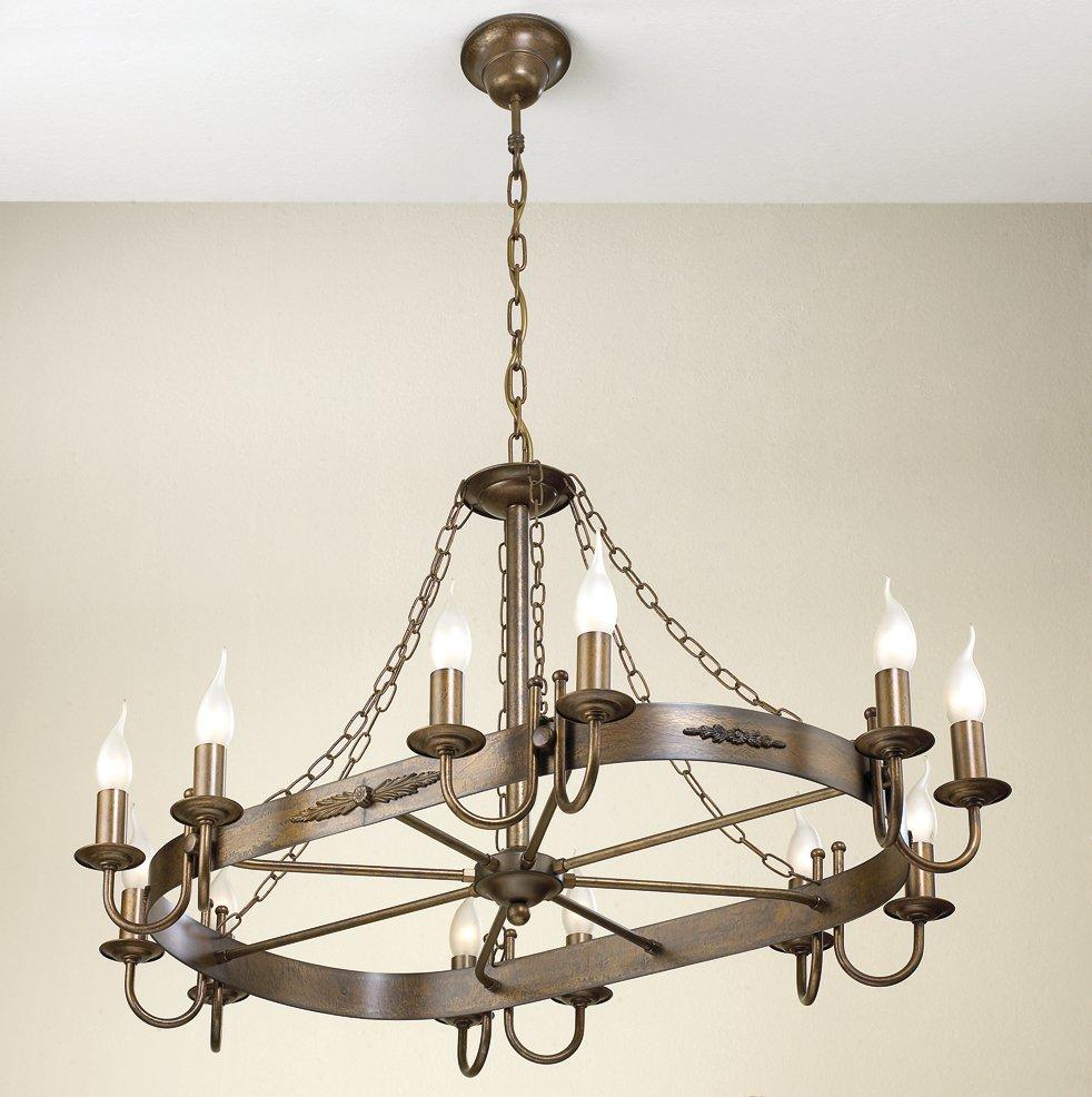 ovaler messing kronleuchter im mittelalter stil. Black Bedroom Furniture Sets. Home Design Ideas