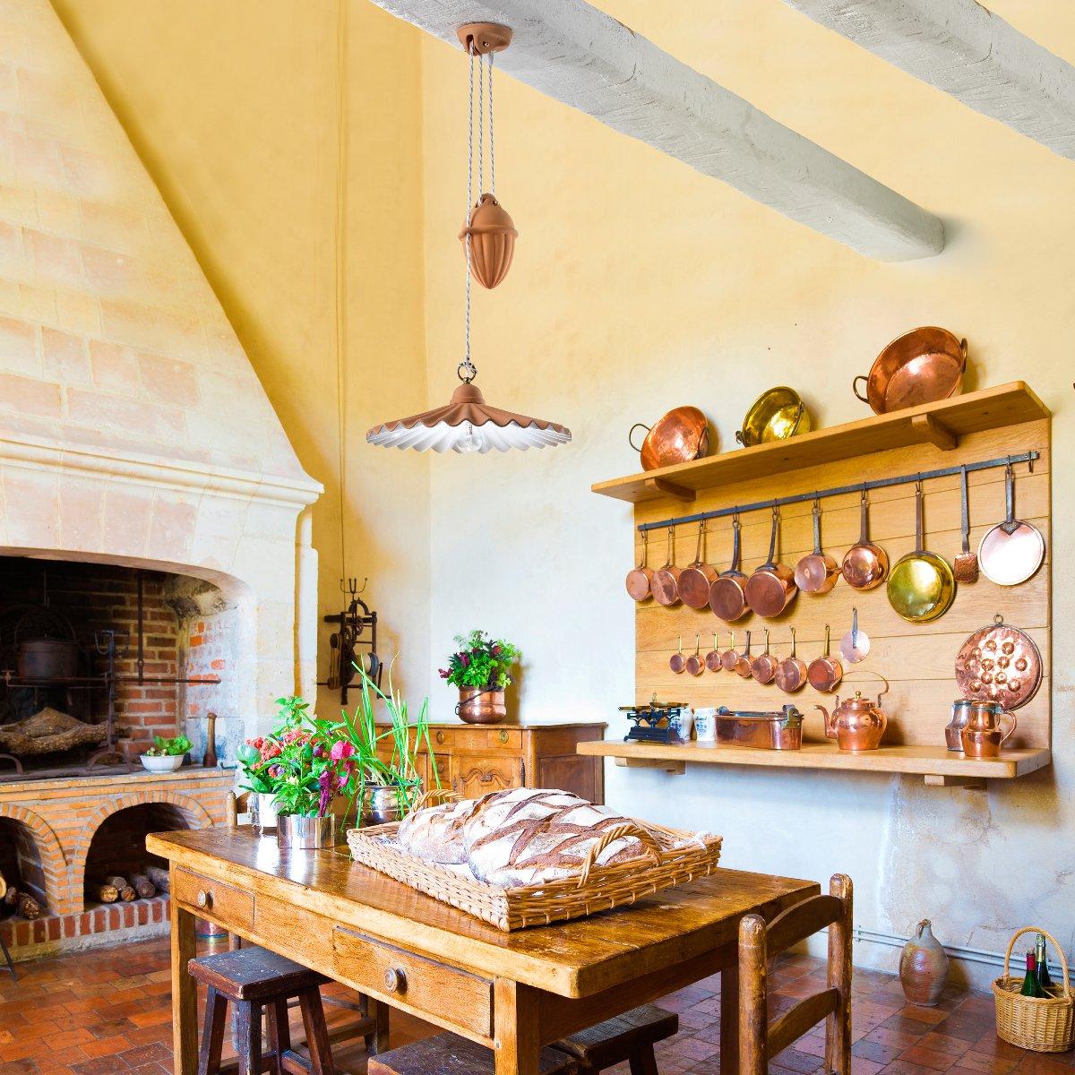 mediterrane italienische zugpendelleuchte in terrakotta. Black Bedroom Furniture Sets. Home Design Ideas