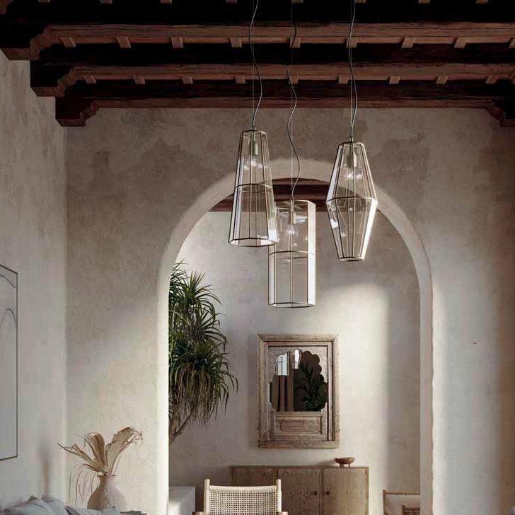 Stilvolle und hochwertige glas laterne mit messing einfassung for Laterne aus glas