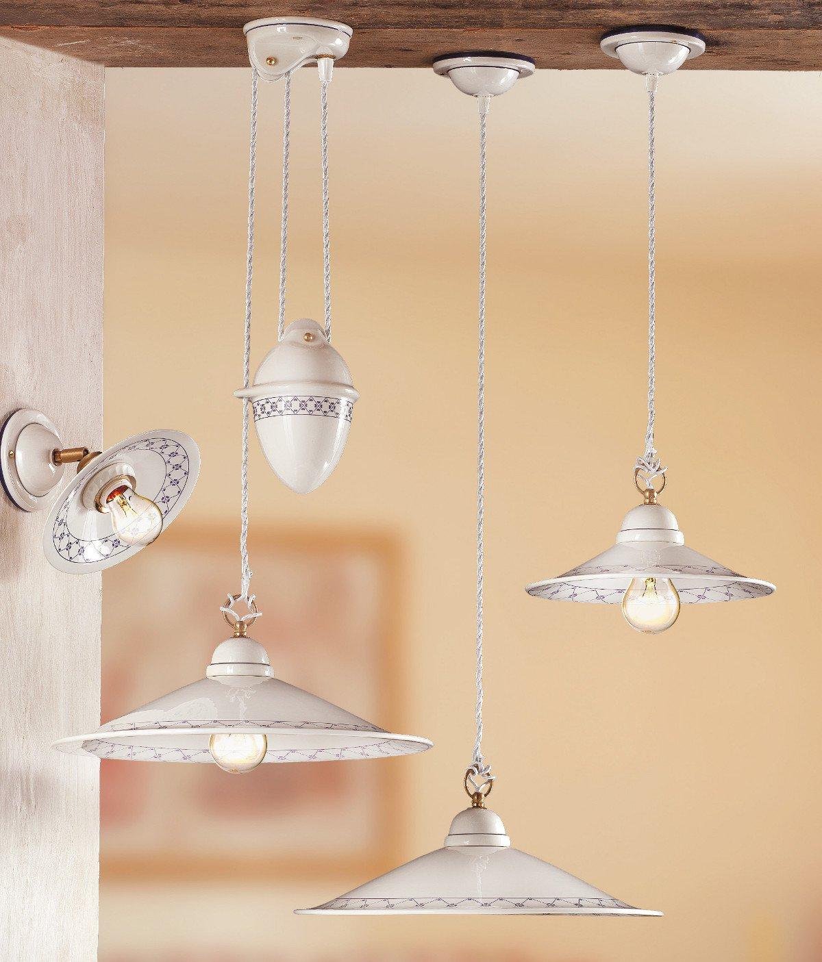 nostalgische pendelleuchte mit keramikschirm g nstig kaufen bei lampen suntinger shop. Black Bedroom Furniture Sets. Home Design Ideas