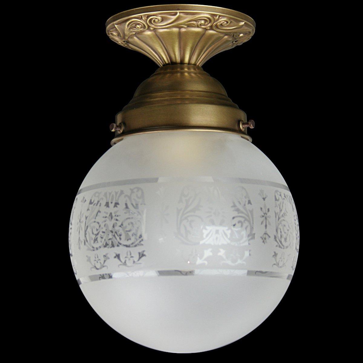 RENA Jugendstil Lampe mit Kugelglas im Stil antiker Lampen