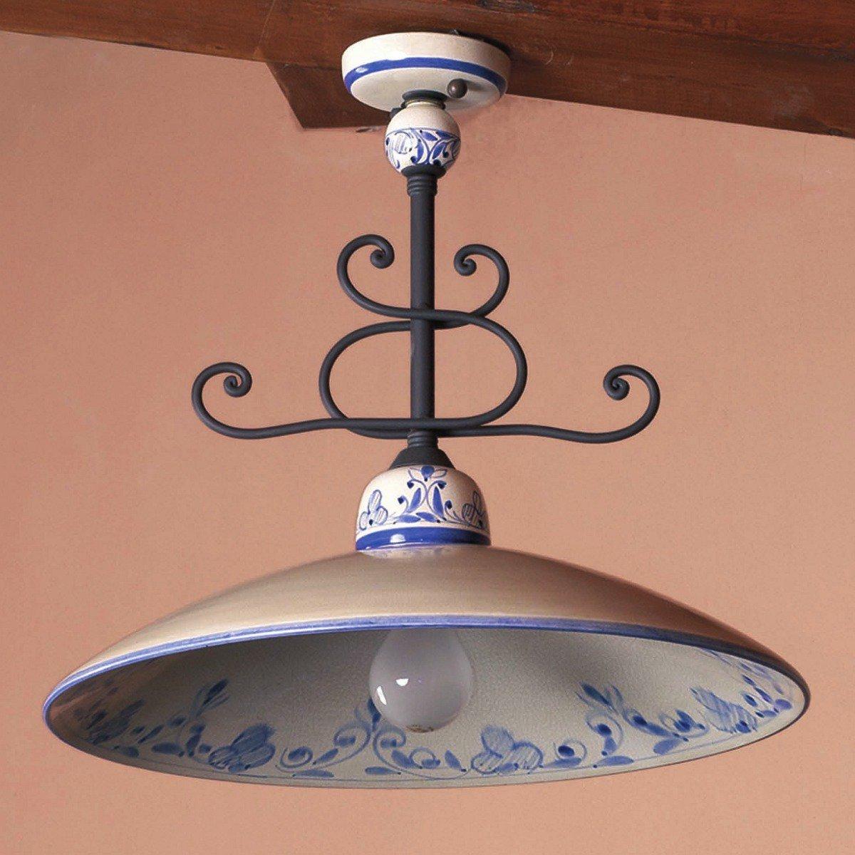 rustikale landhaus deckenlampe vom italienischen. Black Bedroom Furniture Sets. Home Design Ideas