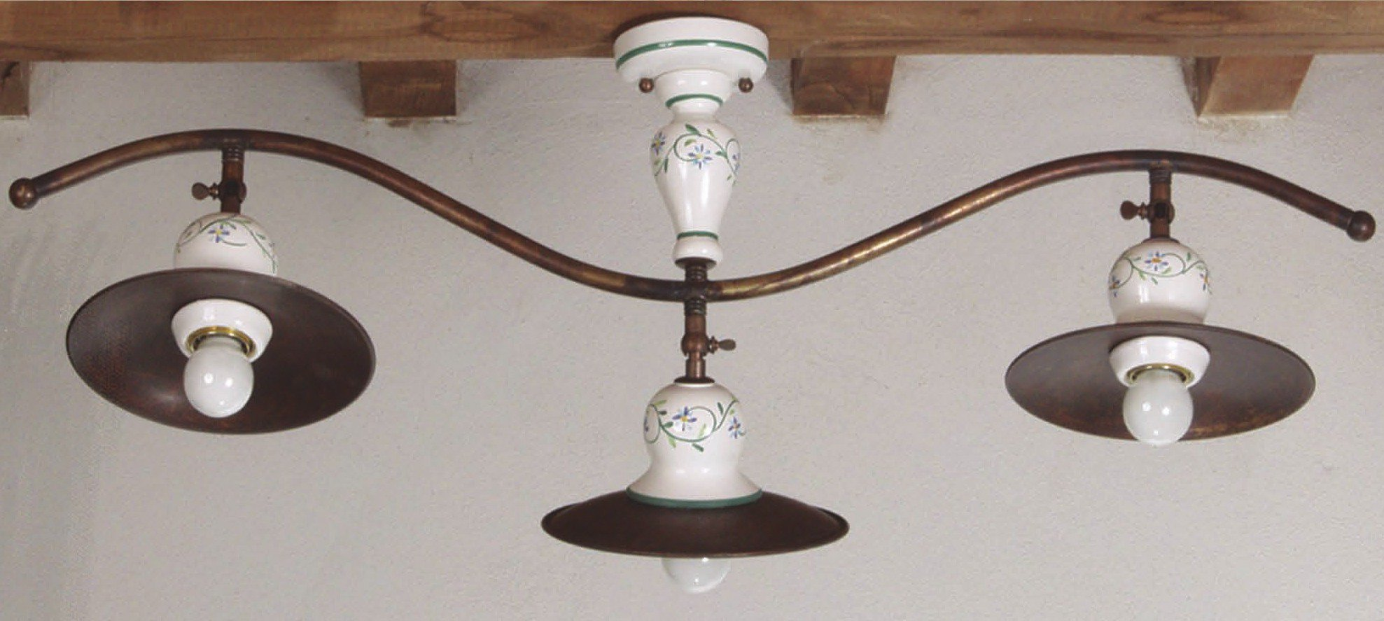 dreiflammige deckenleuchte im rustikalen landhausstil von signa g nstig kaufen bei lampen. Black Bedroom Furniture Sets. Home Design Ideas