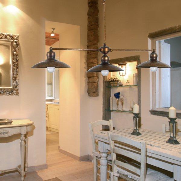 rustikale messing balkenpendelleuchte im historischen stil. Black Bedroom Furniture Sets. Home Design Ideas