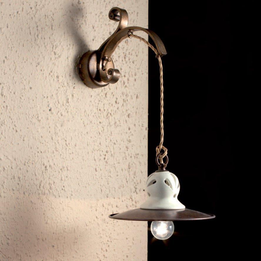 rustikale messing wandleuchte im italienischen stil vom. Black Bedroom Furniture Sets. Home Design Ideas