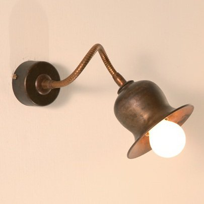 Rustikale messing wandlampe mit flexiblem wandarm vom - Ausgefallene wandleuchten ...