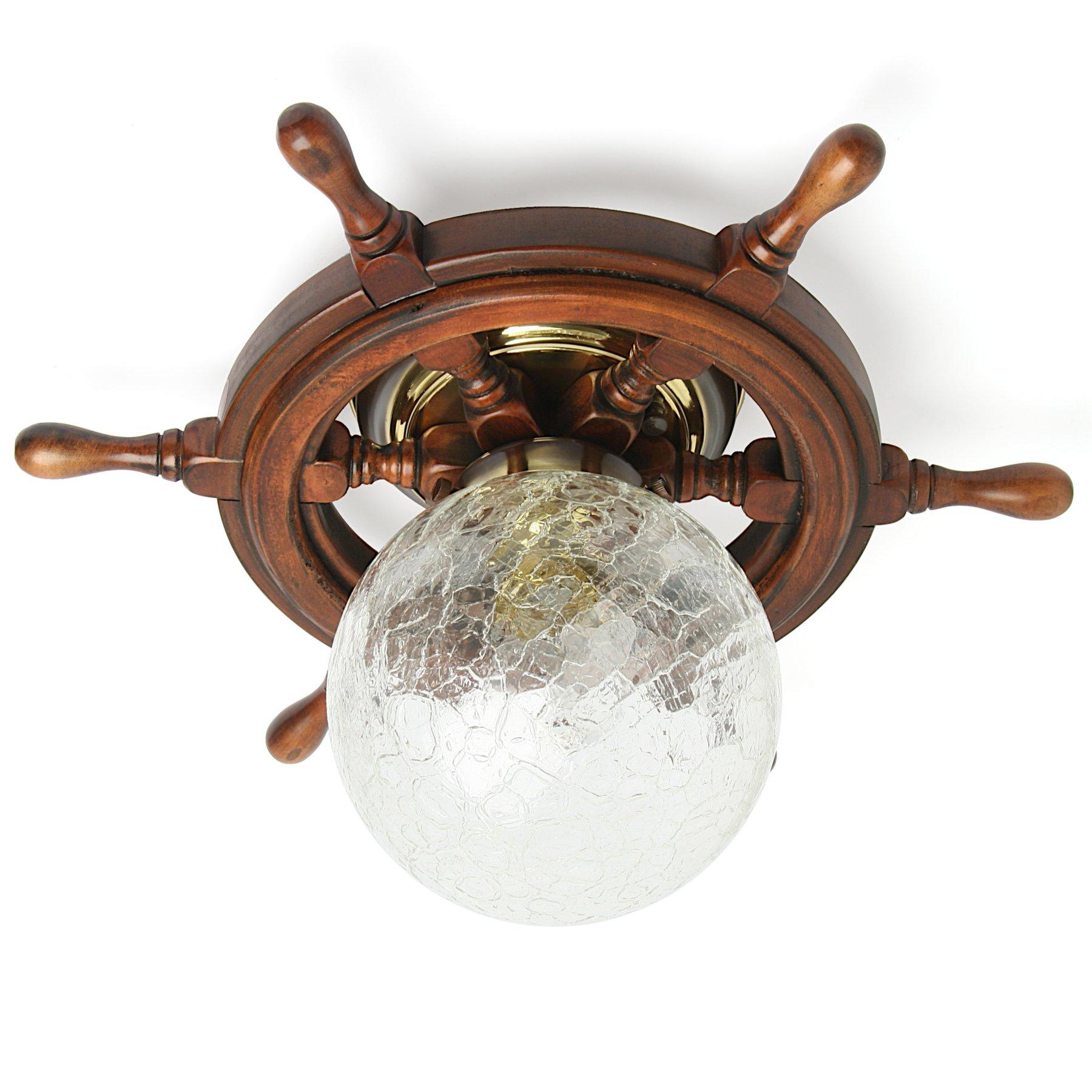 maritime steuerrad schiffslampe. Black Bedroom Furniture Sets. Home Design Ideas