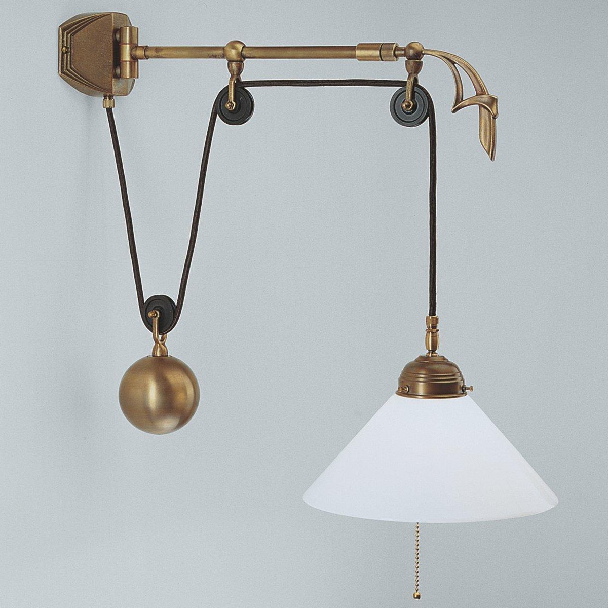 ausziehbare wandleuchte mit zug von berliner messinglampen. Black Bedroom Furniture Sets. Home Design Ideas