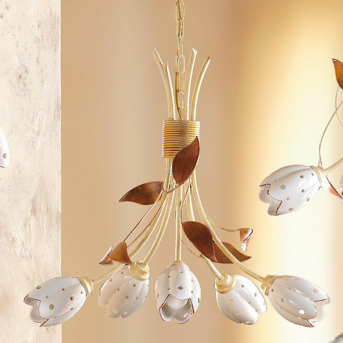 mediterraner florentiner kronleuchter im modernen landhausstil g nstig kaufen bei lampen. Black Bedroom Furniture Sets. Home Design Ideas