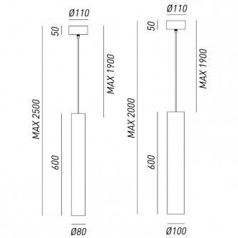 Ausgefallene Pendelleuchten pendelleuchte mit zylindrischem metallschirm in messing oder eisen