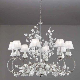gro er goldener florentiner kronleuchter mit keramikbl ten aus italien. Black Bedroom Furniture Sets. Home Design Ideas