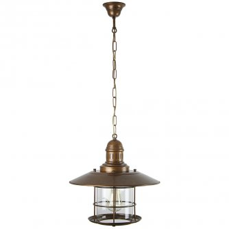 rustikale messing laterne als ausgefallene wohnraumlampe gnstig kaufen bei lampen suntinger shop - Maritime Lampen