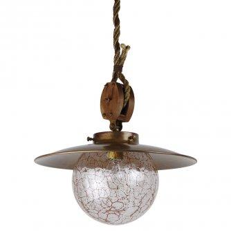 rustikale wandlampe im stil einer alten schiffslampe als. Black Bedroom Furniture Sets. Home Design Ideas