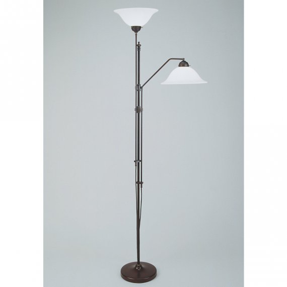 messing stehlampe als leselampe und deckenfluter von berliner messinglampen. Black Bedroom Furniture Sets. Home Design Ideas