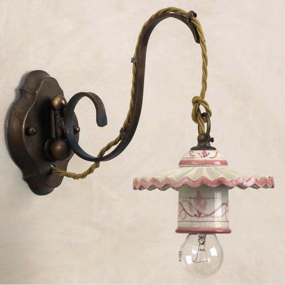 Aparte wandleuchte mit handbemaltem keramikschirm lampen - Ausgefallene wandleuchten ...
