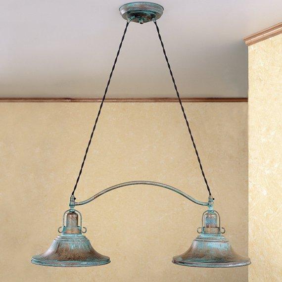 Rustikale balkenlampe als tischpendellampe im maritimen - Ausgefallene wandleuchten ...