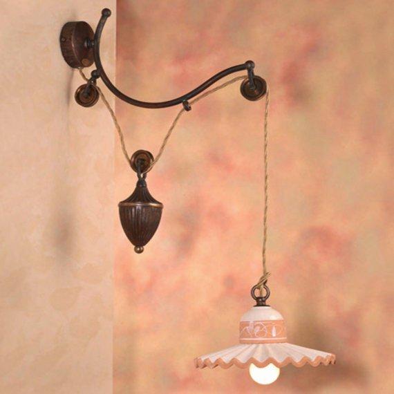 Aussergewohnliche Rustikale Landhaus Wandlampe Mit Zuggewicht In