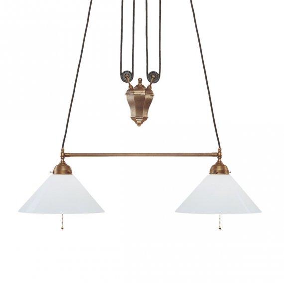 eilin balkenpendellampe klassische tischbeleuchtung mit zwei lichtquellen von berliner. Black Bedroom Furniture Sets. Home Design Ideas