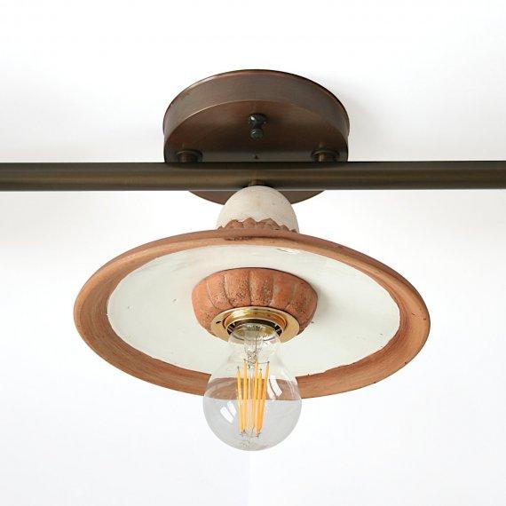 Keramik-Messing Deckenlampe Als Wohnzimmerlampe Im