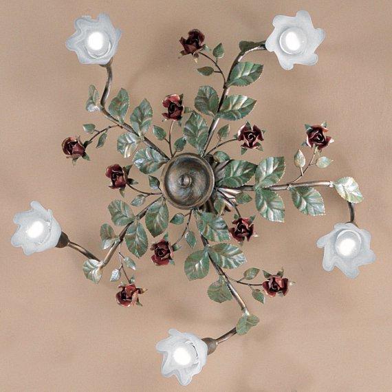 florentiner landhaus deckenleuchte im floralen stil von hans k gl g nstig kaufen bei lampen. Black Bedroom Furniture Sets. Home Design Ideas