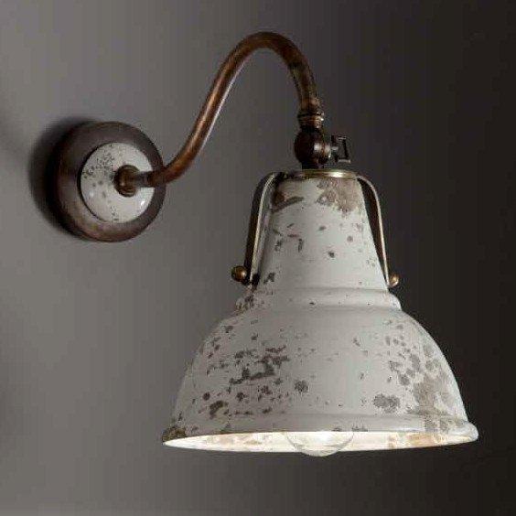 industrielampe in antiker optik als wandleuchte lampen. Black Bedroom Furniture Sets. Home Design Ideas