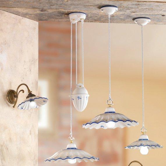 Italienische pendelleuchte mit keramikschirm g nstig for Italienische tischleuchten