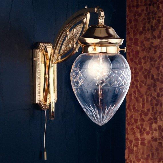 Prächtige Jugendstil-Wandlampe