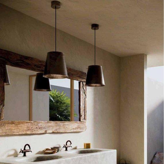 eisen pendelleuchte im industriedesign von il fanale lampen suntinger shop. Black Bedroom Furniture Sets. Home Design Ideas
