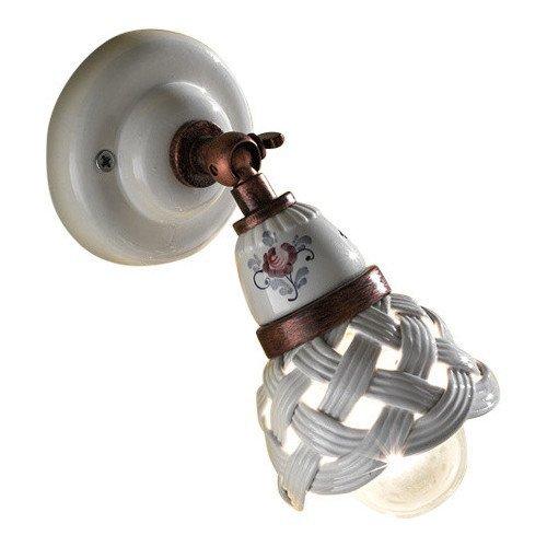 Lampen Landhausstil Keramik Leuchte Im Kaufen Gebraucht: Wandspot Im Landhausstil In Keramik Und Messing Von