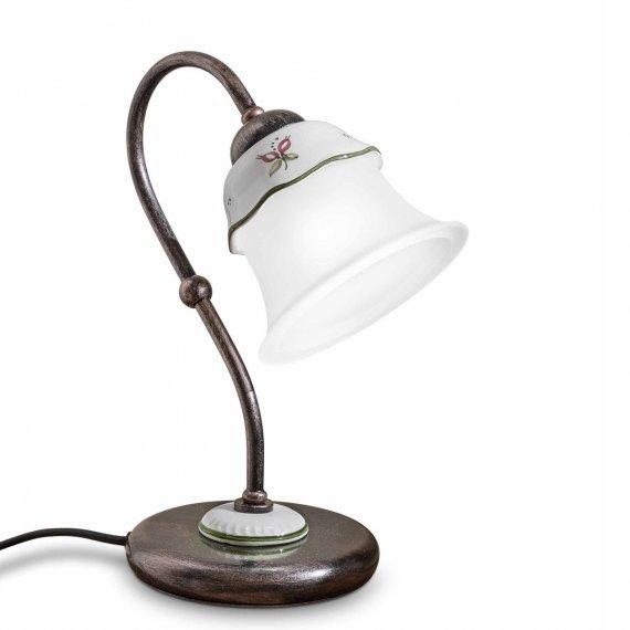 tischleuchte als nachttischlampe in messing und keramik. Black Bedroom Furniture Sets. Home Design Ideas