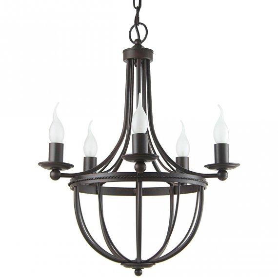 klassischer kronleuchter mit kerzen im landhausstil von k gl leuchten. Black Bedroom Furniture Sets. Home Design Ideas